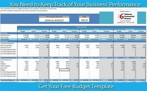 business budget template   prepare projected budgets