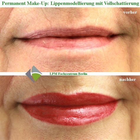 permanent make up lippen mit schattierung