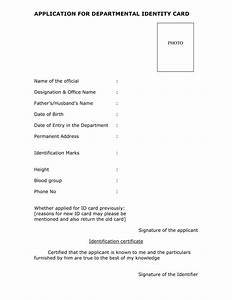Application For Departmental Identity Card For Gds