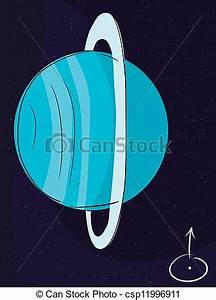 Vector Clip Art of Planet Uranus with its rings in outer ...