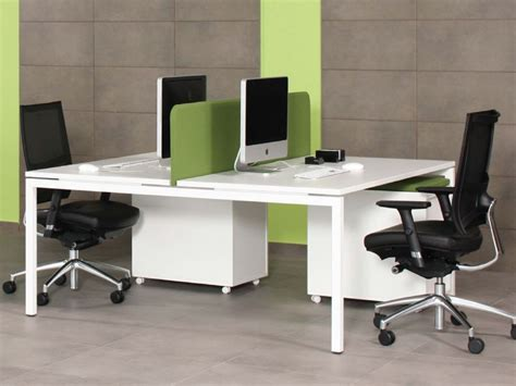 White Bench With Storage by Nova U 2 Pod Office Desk Tables