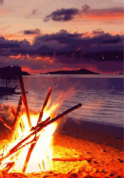 Sunset Gifs Fire 2309 Imagine Happens There
