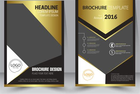 brochure design template  modern style background