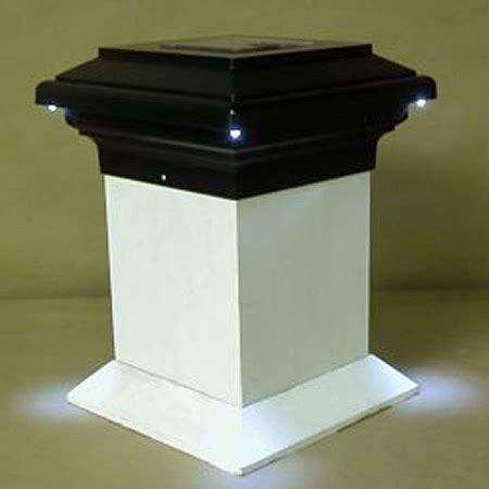 pegasus solar powered deck light for 4x4 wood posts