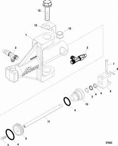 Compact Hydralic Steering Actuator For Mercruiser  Alpha