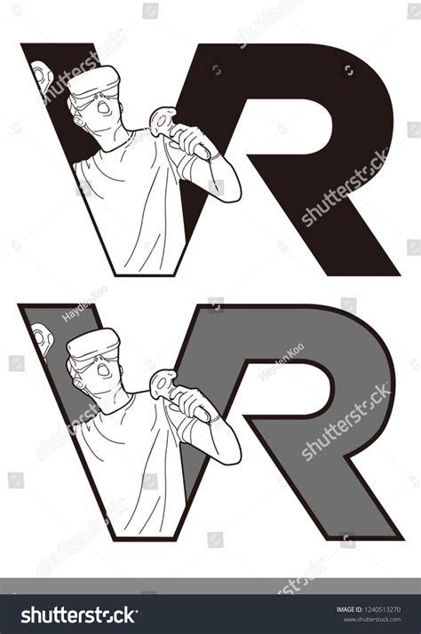 VR Logo vector template