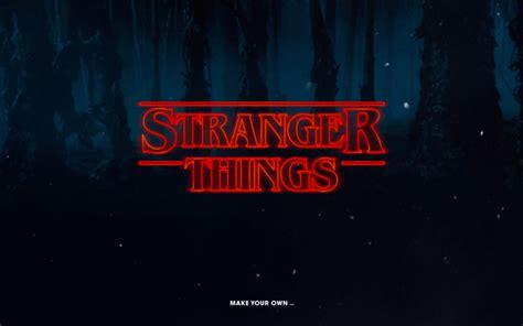 Generate Your Own 'stranger Things' Logo