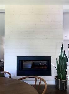 DIY Modern Shiplap Fireplace Featuring Beach Wood