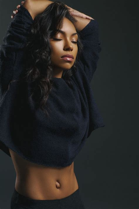 hit the floor star logan browning gets casually sexy in