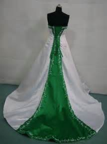 green wedding dresses colorful bridal gowns color accents bridal gown