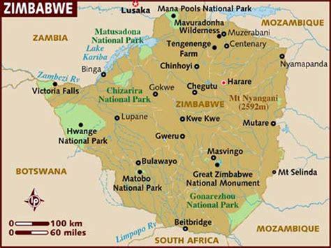 simbabwe bergen karte