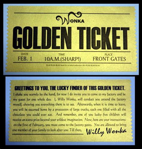 Golden Ticket Printable Template by The 25 Best Golden Ticket Template Ideas On
