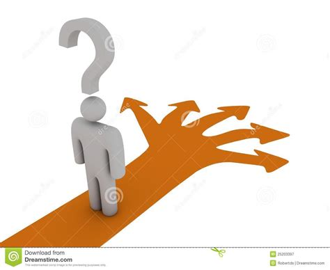 Choose The Right Way Stock Illustration. Image Of Lost