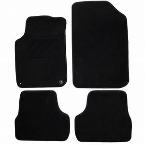 jeu complet de tapis sur mesure noir en moquette norauto With tapis 2008 norauto