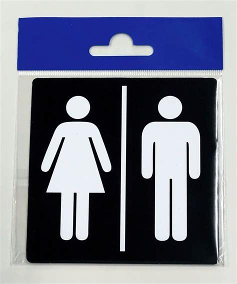 plaque de porte plaque toilette femme homme autocollant 100 x 100 mm ebay
