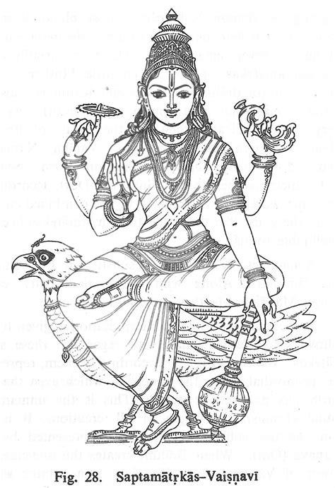 Saptamatrkas-Vaisnavi | Ganesha drawing, Hindu art