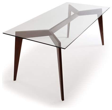 31466 glass top for dining table gorgeous deco blaze midcentury modern dining table walnut legs and