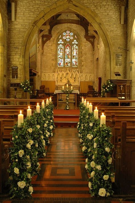 Church Wedding Altar And Aisle Decor