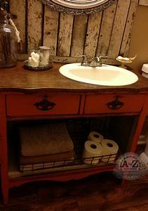 hometalk diy dresser vanity for a small bath With how to make a bathroom vanity from a dresser