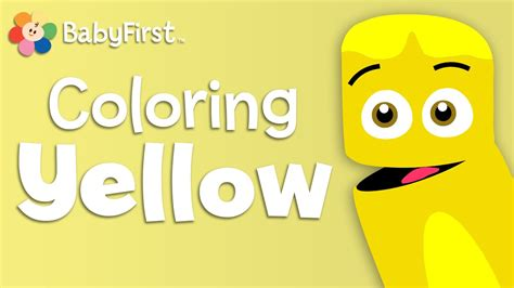 Coloring Crew by Babyfirsttv Color Crew Learn Colors Yellow Color