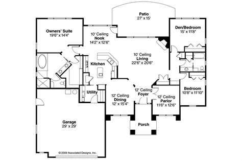 mediterranean home floor plans mediterranean house plans mendocino 30 681 associated