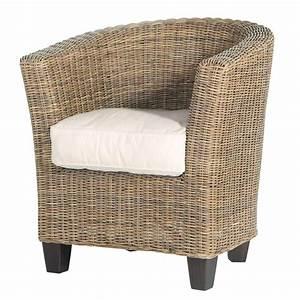 Fauteuil Rotin Design : fauteuil de jardin en rotin zanzibar maisons du monde ~ Nature-et-papiers.com Idées de Décoration