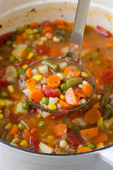 veggie soup recipe really good vegetable soup recipe dishmaps