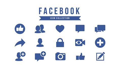 facebook  template icon pack