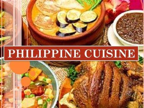 phil cuisine cuisine ppt