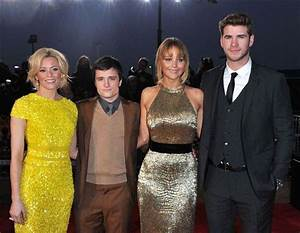 Elizabeth Banks Josh Hutcherson Jennifer Lawrence And