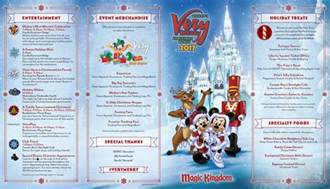 mickey s very merry christmas party map 2016 walt disney world