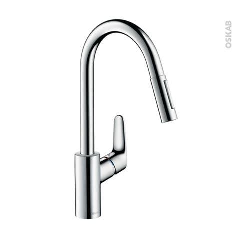 changer robinet de cuisine robinet de cuisine focus mitigeur avec douchette chromé hansgrohe oskab