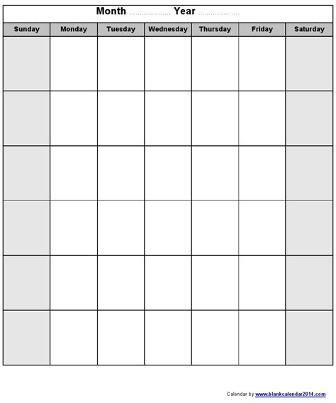 Monday Through Saturday Calendar Template by Blank Monday Through Friday Calendar Calendar 2018 Printable