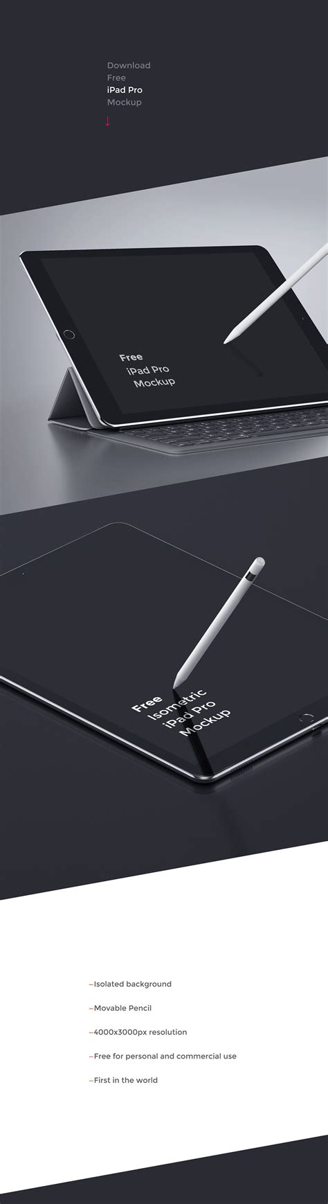 ipad pro  mockup  isolated background