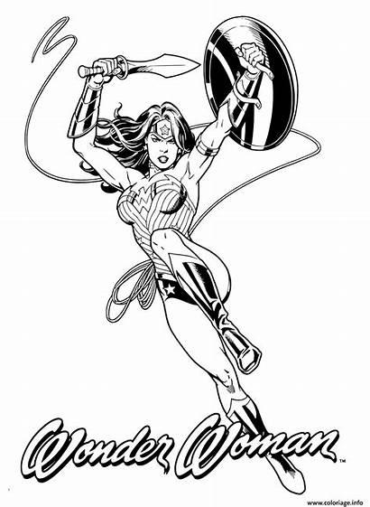 Coloring Woman Comics Dc Wonder Coloriage Adult