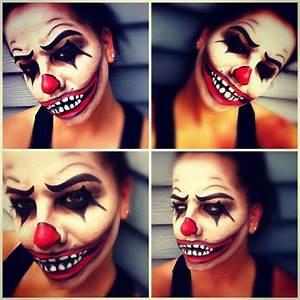 Easy Creepy Clown Makeup