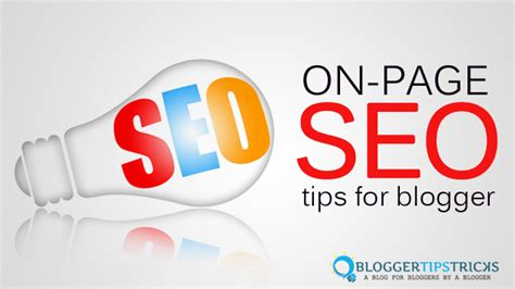 On Page Seo by 7 Basic On Page Seo Tips For Blogs