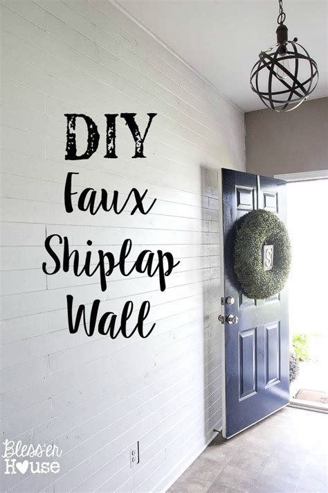diy planked board  batten accent wall part