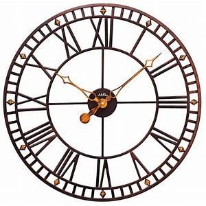 Grande Horloge Murale Design : horloge murale design grand diam tre 60 cm effet vieilli ~ Nature-et-papiers.com Idées de Décoration
