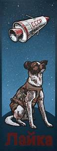 Laika; monument to the first dog into space. A hero of the ...