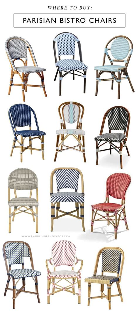 buy parisian bistro chairs rambling renovators