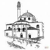 Coloring Hagia Sophia Mosque Masjid Printable Sketsa Dimensi Gambar Visit sketch template