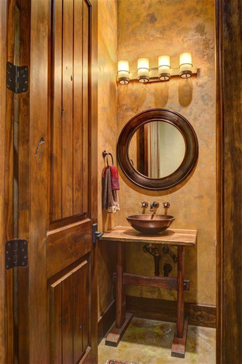ranch style   lake rustic bathroom houston