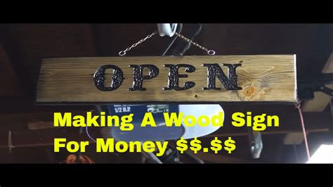 making  wood sign  money part  youtube
