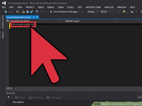 get color how to get color in c program with pictures wikihow