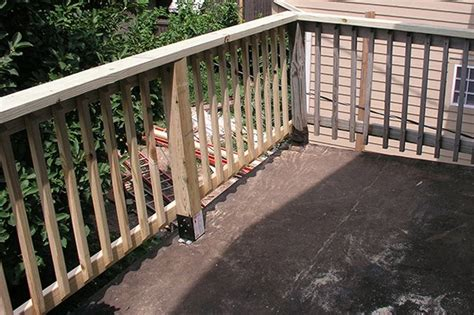 replace  rotted wood porch railing ehow