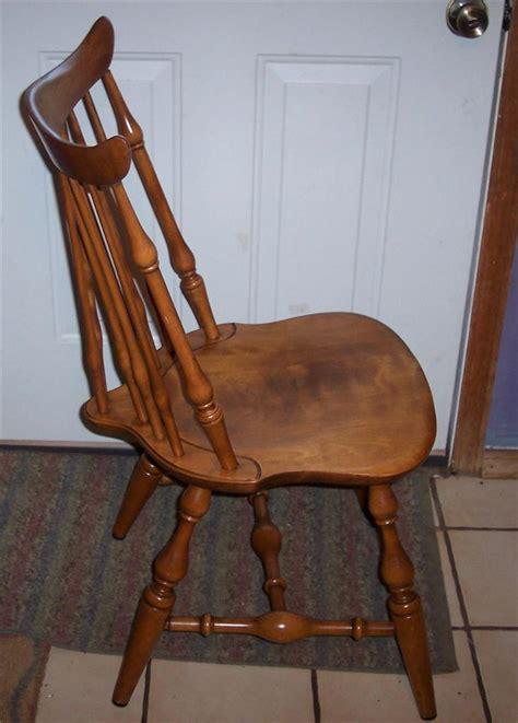 nichols and stone maple windsor sidechair dinette chair ebay