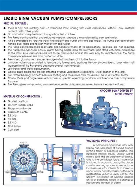 water ring vacuum pump compressors water ring vacuum