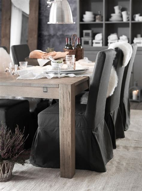 gray dining chair slipcover