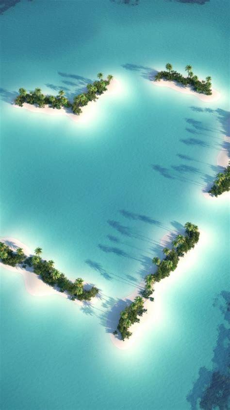 wallpaper heart island love heart hd  world